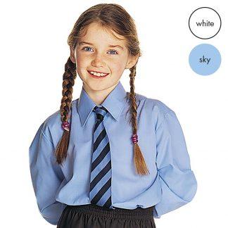 TWINPACK - Girls Long Sleeve School Blouse CBLG01