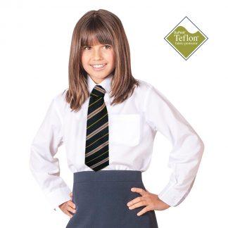 CKL Schoolwear TWINPACK Girls School Blouse Long Sleeve-CBLG11-white