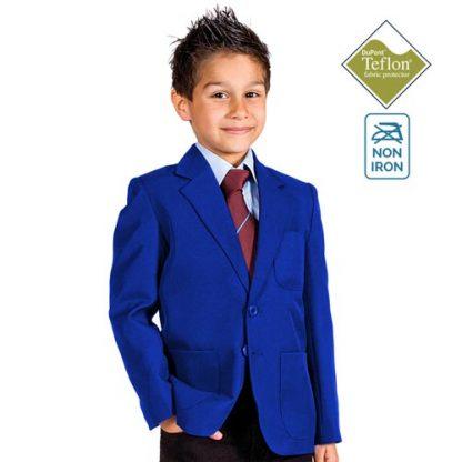 280gsm Boys Machine Washable School Blazer - CBZB01N-royal