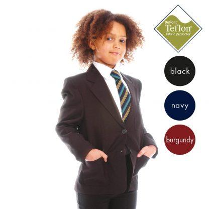 100% Polyester (Teflon Coated) Girls' School Blazer - Zip access for embroidery CBZG01---CBZG02