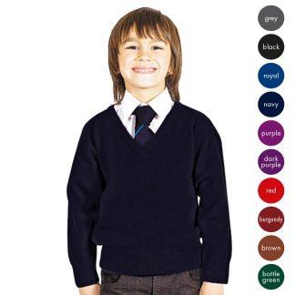 Kids Premium Wool-mix Knitted V-neck Jumper CJUK01