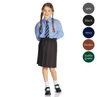 Girls All Box Pleat School Skirt - Primary CSKG01