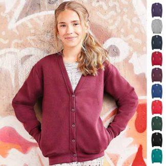 295g 50/50 PC Girls Sweatshirt Cardigan - JCK273-main2