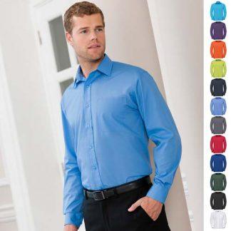 110g 65/35 PC Easy Care Poplin Shirt Long-Sleeve - JSHA934-main2