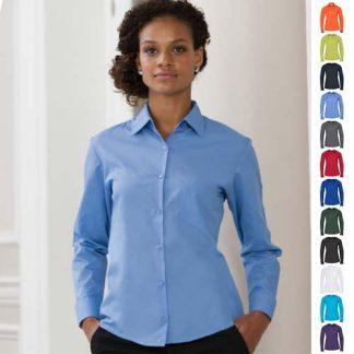 110g 65/35 PC Ladies Easy Care Poplin Shirt Long Sleeve - JSHL934