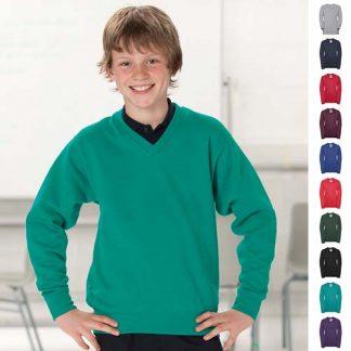 Kids V-Neck Set-In Sweatshirt JSK272-main2