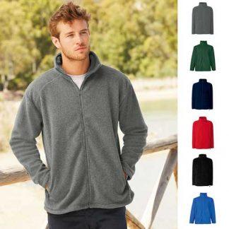 300g 100% Polyester Full Zip Fleece - SFFZA-model3