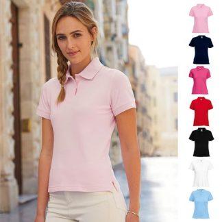 220gsm 97/3 CE Stretch-Cotton Lady-Fit Pique Polo Shirt - SPL
