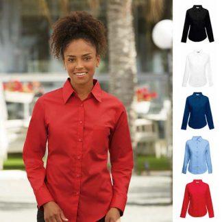 120g 55/45 CP Ladies Poplin Shirt Long Sleeve SSHLPL
