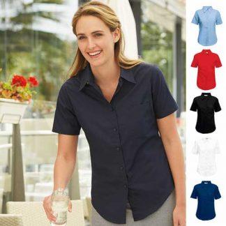 120g 55/45 CP Ladies Poplin Shirt Short Sleeve - SSHSPL-main