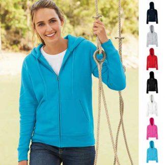 280g Ladies 70/30 CP Lady-Fit Hooded Sweat Premium Jacket - SSHZL