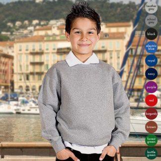 Kids Premium Hi-Spec Set-In Crew Sweatshirt - TSK01-main