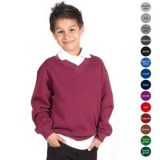 Kids Premium V-Neck Set-In Sweatshirt TSK02