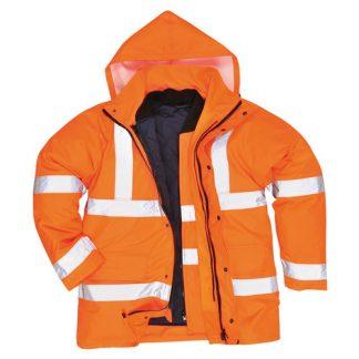 190g Hi Vis Breathable Traffic Waterproof Jacket GO/RT