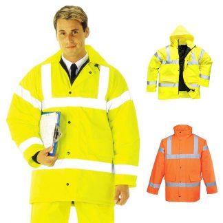 190g Hi-Vis Traffic Waterproof Jacket WJAA460