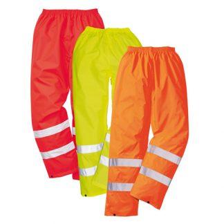 190gsm 100% Polyester Hi-Vis Traffic Waterproof Trouser - WTRA480-main
